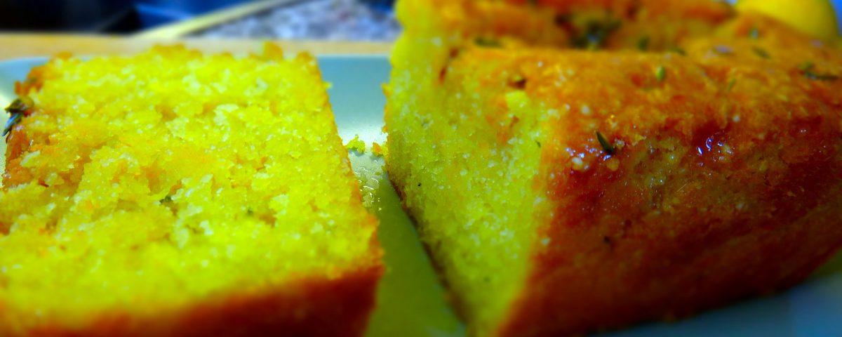 Zitronen Thymian Cake