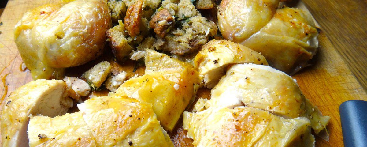 Huhn aus dem Ofen